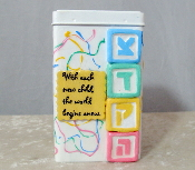 Tzedakah Box - Pastel Colors for Baby