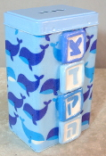 Tzedakah Box - Blue Whales