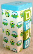 Tzedakah Box - Little Blue Owls