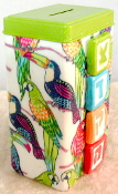 Tzedakah Box - Tropical Birds