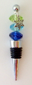 Nautical Colors Crystal Wine Bottle Stopper