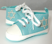 "Turquoise ""All-Stars"" Baby Shoes"