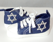 "Navy Blue ""All-Stars"" Baby Shoes"