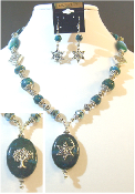 Eilat Stone Statement Necklace with Reversible Pendant