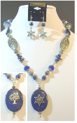 Lapis Lazuli Statement Necklace with Reversible Pendant
