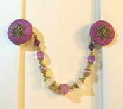 Purple and Gold Tallit Clips