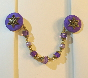 Violet and Gold Tallit Clips
