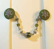 Olive and Silver Tallit Clips