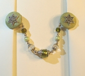 Willow Green and Silver Tallit Clips