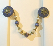 Navy Blue and Gold Tallit Clips