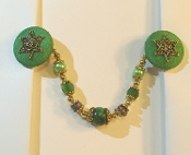Kelly Green and Gold Tallit Clips