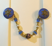Sapphire Blue and Gold Tallit Clips