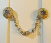 Gold and Silver Tallit Clips
