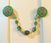 Kelly Green and Silver Tallit Clips