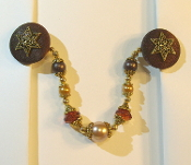 Brown and Gold Tallit Clips