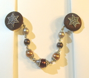 Brown and Silver Tallit Clips