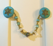 Teal and Gold Tallit Clips