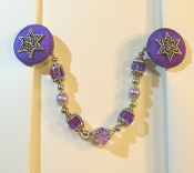 Violet and Silver Tallit Clips