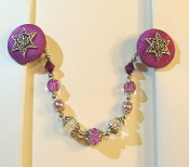 Purple and Silver Tallit Clips