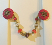Red and Gold Tallit Clips