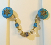 Capri Blue and Gold Tallit Clips
