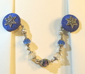 Sapphire Blue and Silver Tallit Clips