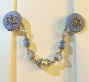 Light Blue and Silver Tallit Clips