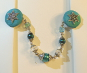 Teal and Silver Tallit Clips