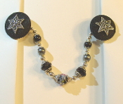 Black and Silver Tallit Clips