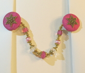Magenta and Gold Tallit Clips