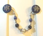 Navy and Silver Tallit Clips