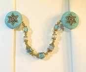 Baby Blue and Gold Tallit Clips