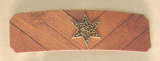 Wood Pattern Barrette