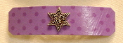 Purple Spots Barrette