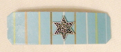 Light Blue Striped Barrette