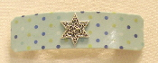 Light Blue Dotted Barrette