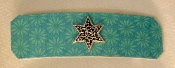Aqua Flower Patterned Barrette
