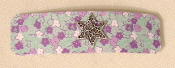 Aqua and Purple Flowered Barrette