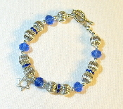 Sapphire Blue and Silver Crystal Bracelet