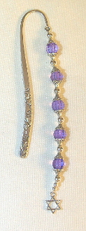 Small Purple and Clear Crystal Bookmark