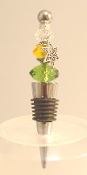 Green, Amber, Clear Wine Bottle Stopper