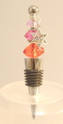 Red, Magenta, Pink Wine Bottle Stopper