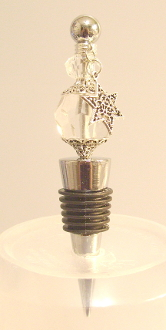 Clear Crystal Wine Bottle Stopper