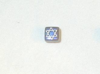 Iridescent Gray with Silver Star of David Tie Tack