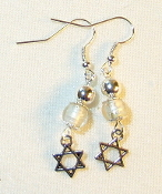 Silver-Lined Clear Glass Earrings