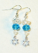 Clear and Aqua Crystal Earrings