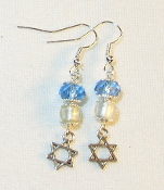 Light Sapphire Crystal and Silver-Lined Clear Glass Earrings