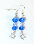 Sapphire and Aqua Crystal Earrings