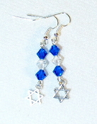 Capri Blue and Clear Crystal Earrings