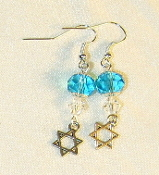Aqua and Clear Crystal Earrings